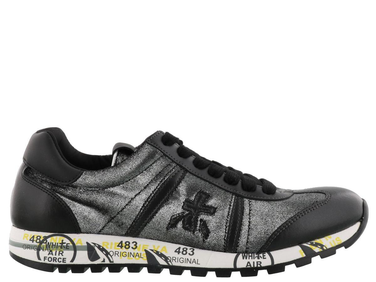 Premiata Lucy Sneaker In Black Silver