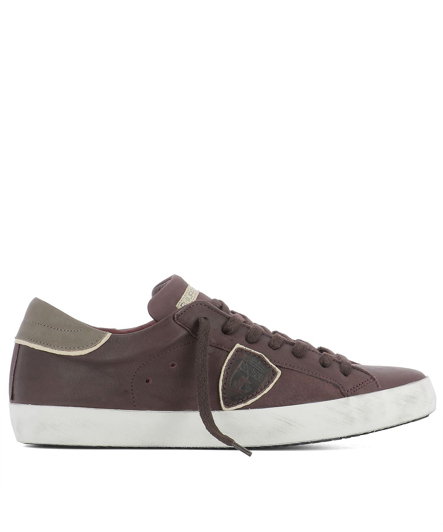 Philippe Model Plum Purple Leather Sneakers