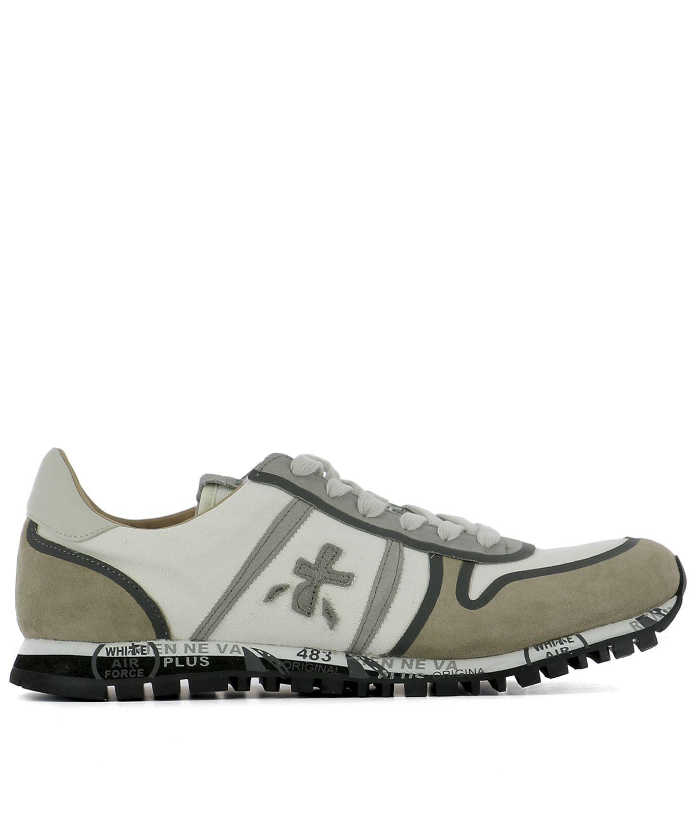 Premiata White Fabric Sneakers
