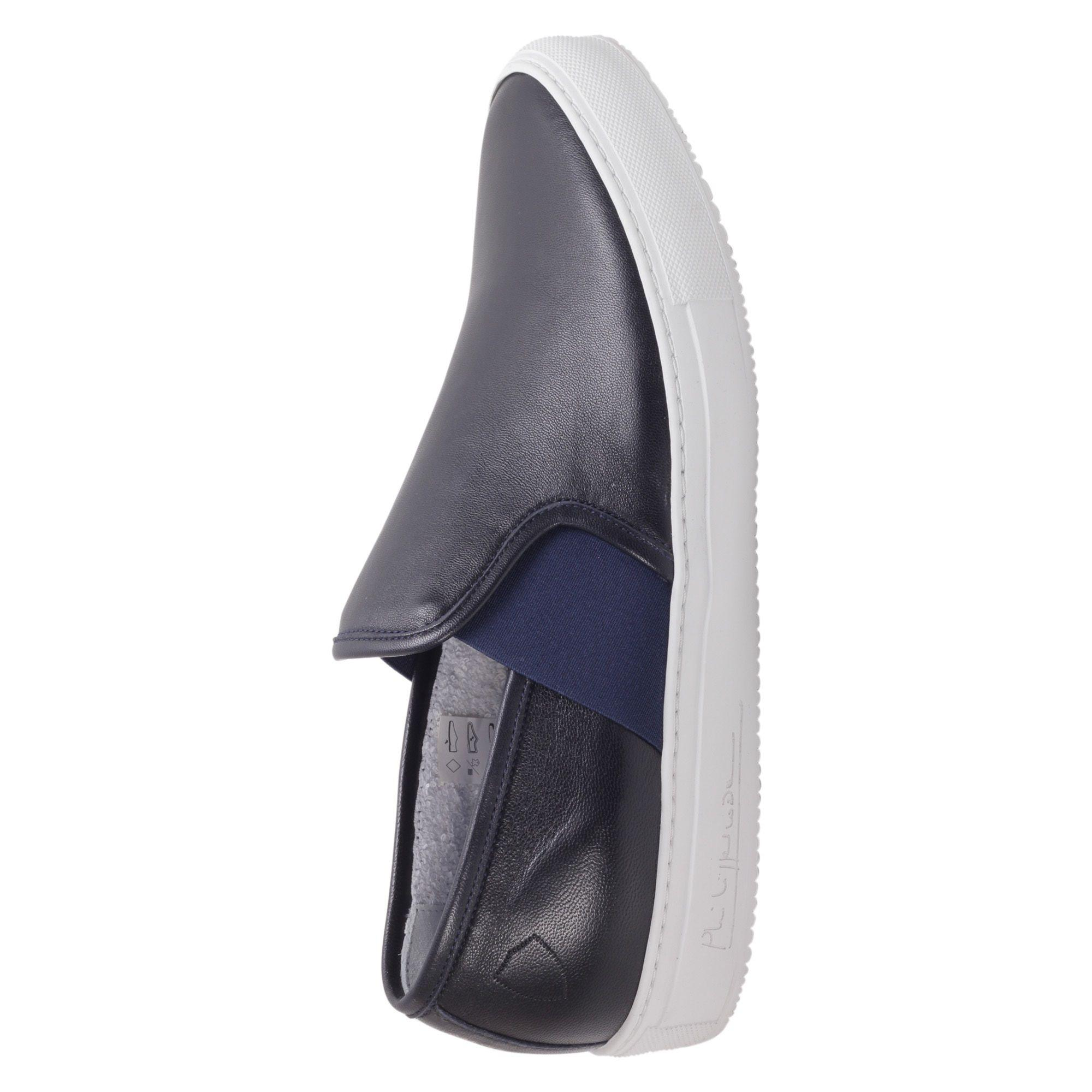 Philippe Model Leon Leather Slip On In Blue