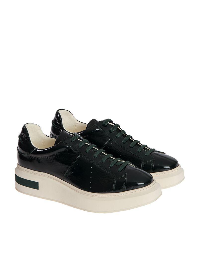 Manuel BarcelÒ Trafalgar Patent Leather Sneaker In Green