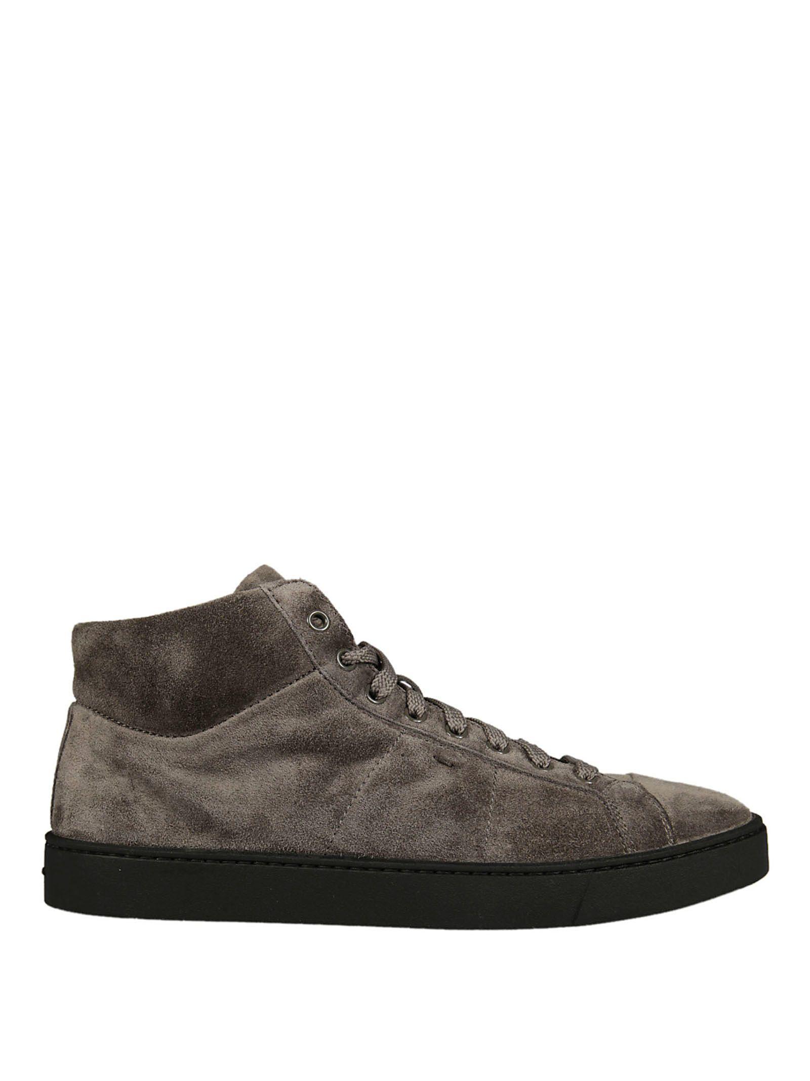 Santoni Hi-top Sneakers In Grey