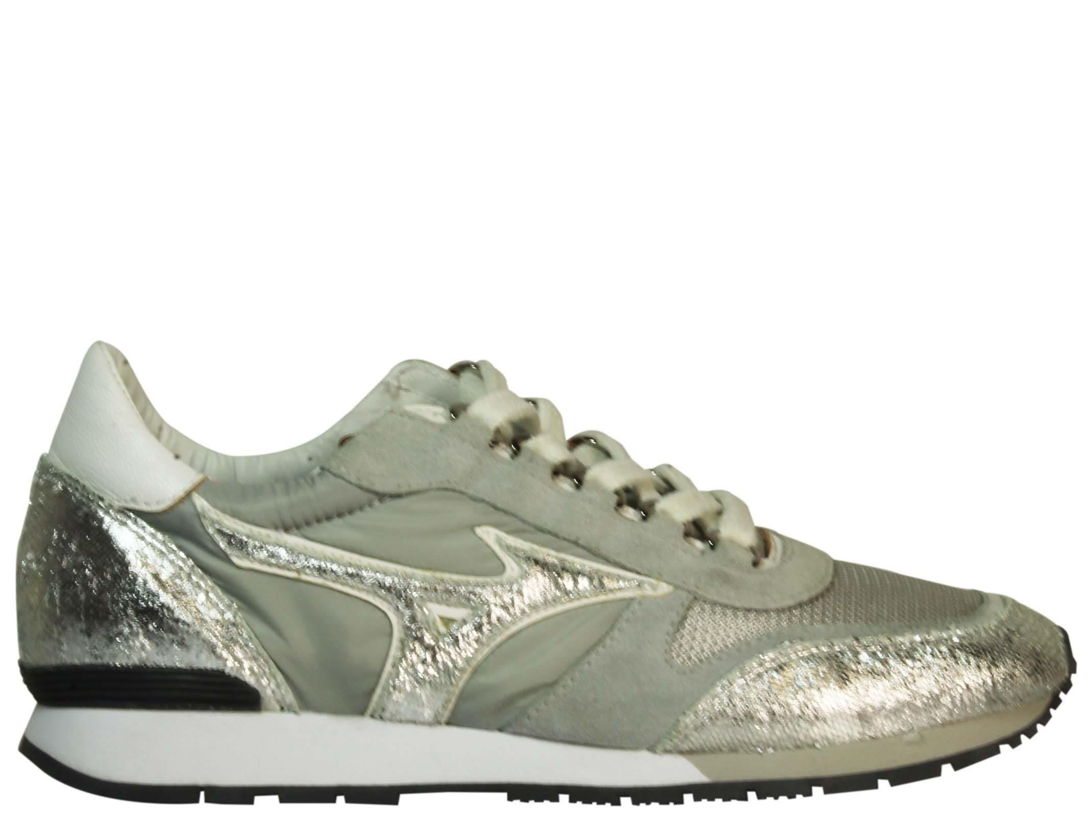 Mizuno Light Grey Naos Wos Sneakers In Silver