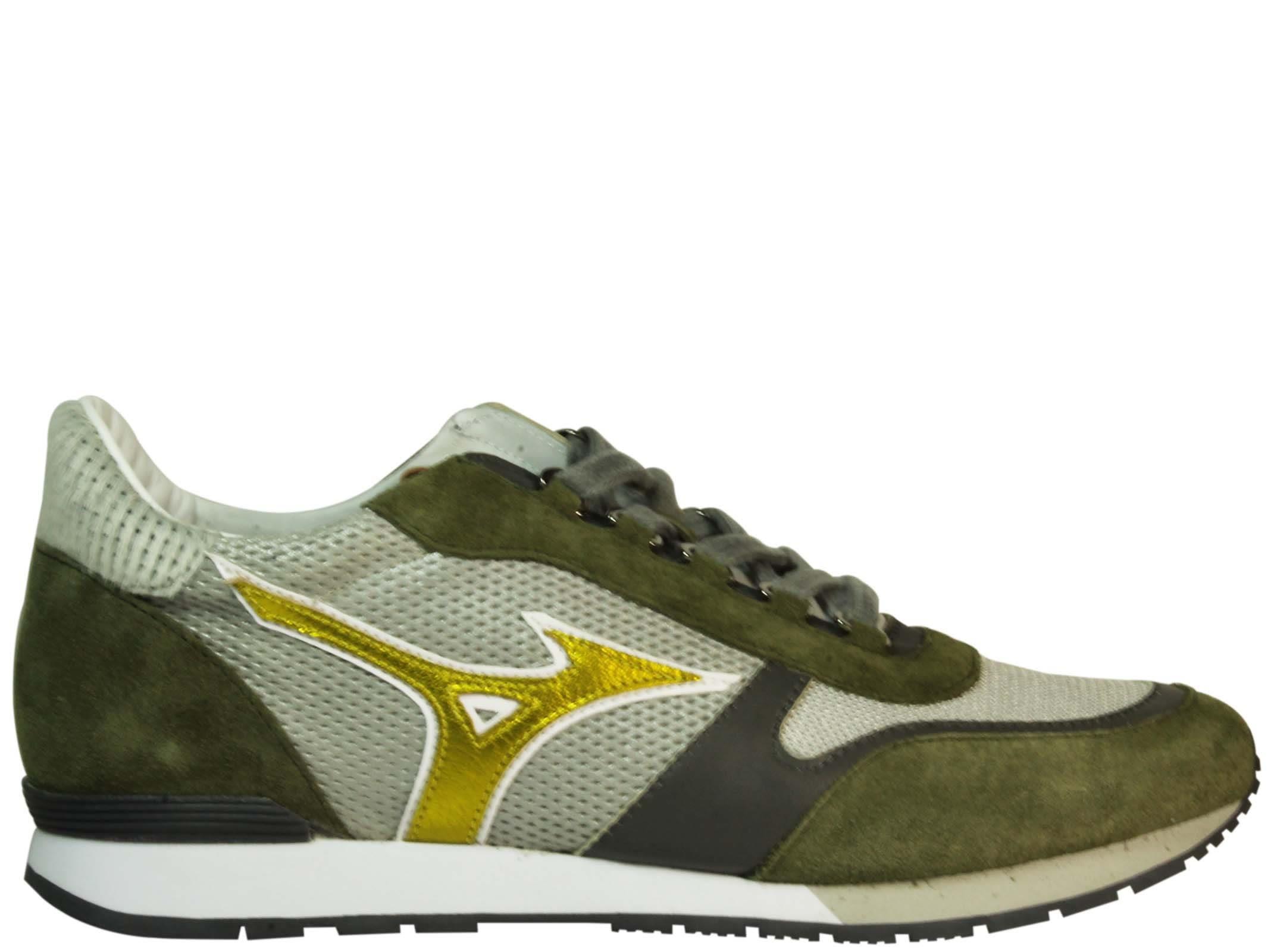 Mizuno Silver Khaki Naos Sneakers In Green