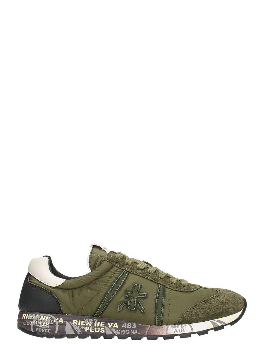 Premiata Lucy In Green Leather Sneakers
