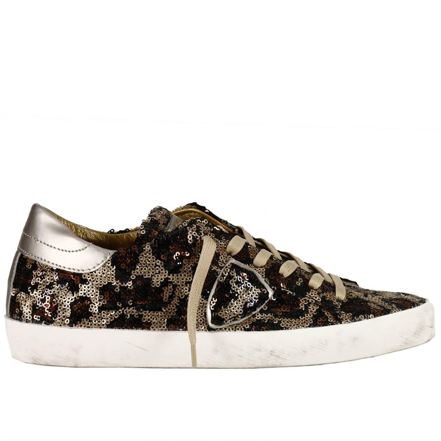 Philippe Model Sneakers Shoes Women  In Gold
