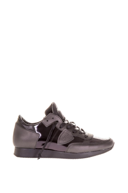 "Philippe Model ""tropez "" Leather Sneakers In Purple"