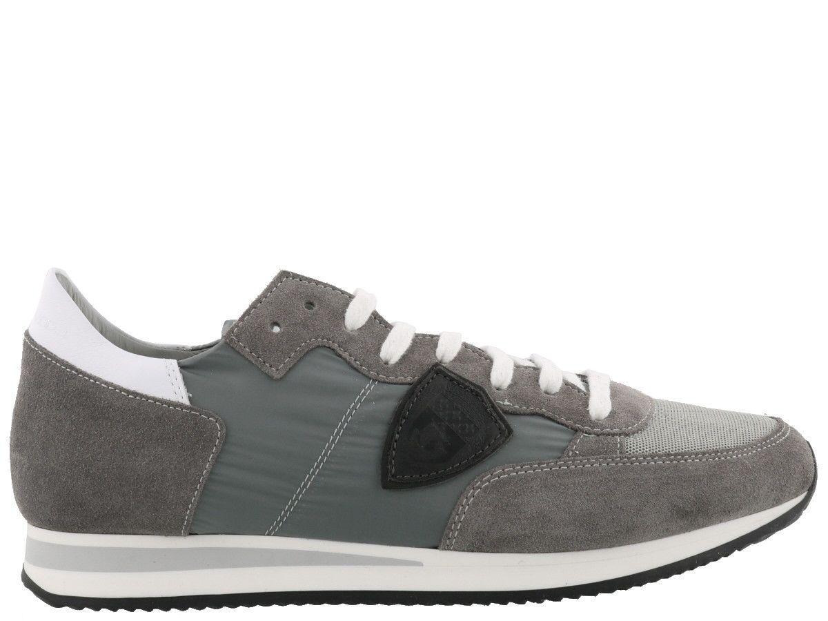 Philippe Model Tropez Mondial Sneaker In Gris Clair-gris