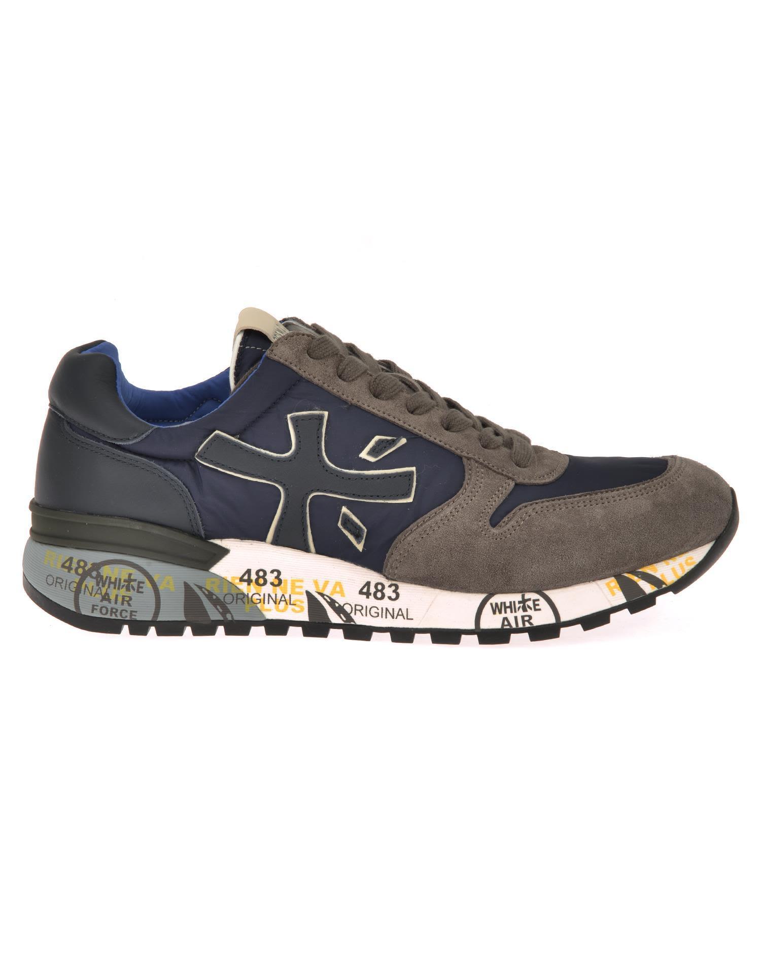 White Premiata Mick Sneaker In Blue