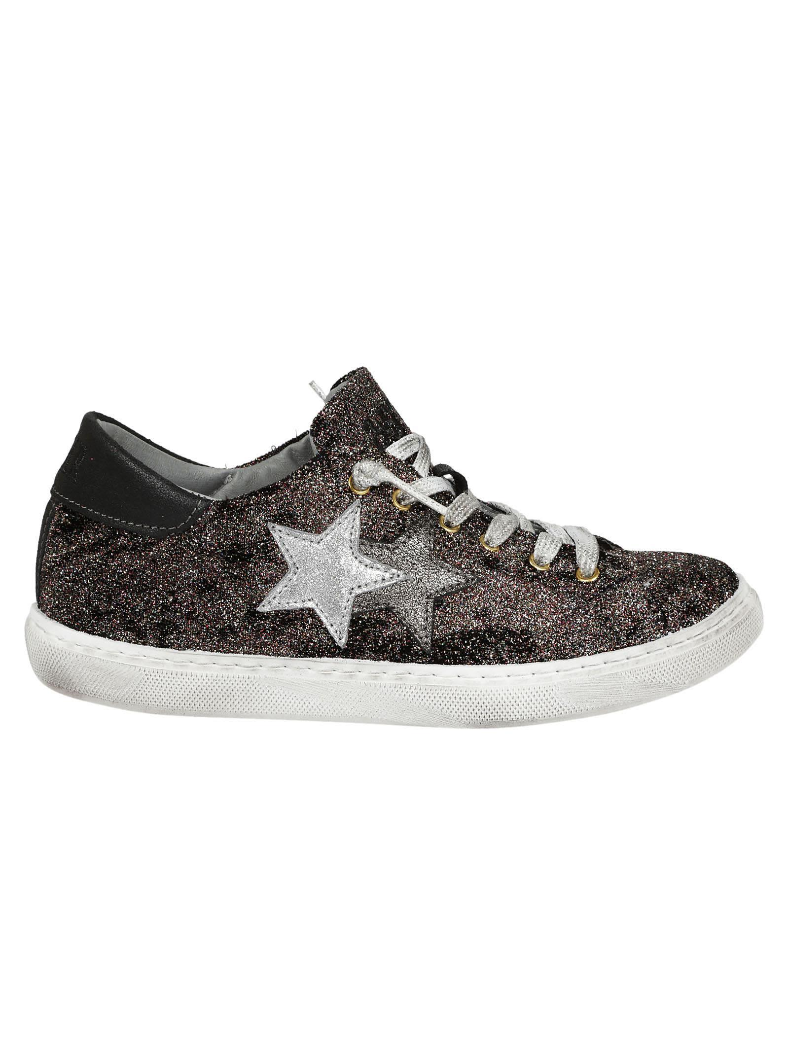 2star Women's  Multicolor Leather Sneakers