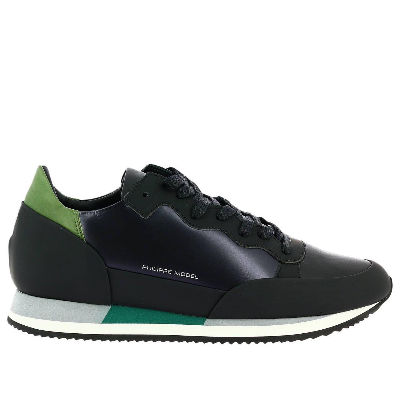 Philippe Model Sneakers Shoes Men  In Black