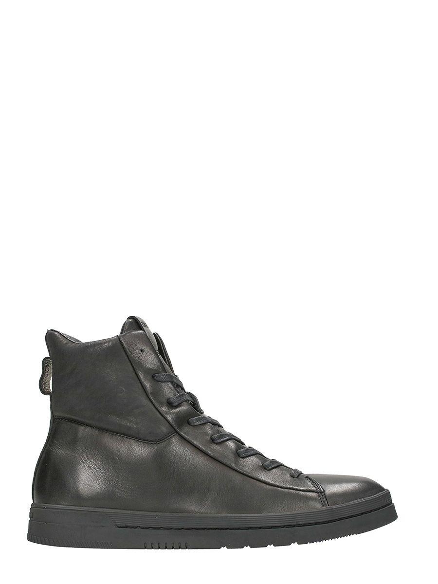 Crime Black Leather Sneakers