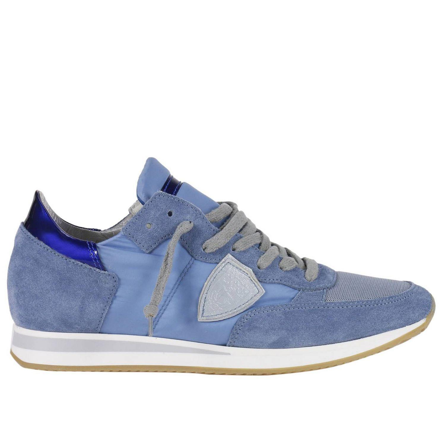 Philippe Model Sneakers Shoes Women  In Gnawed Blue