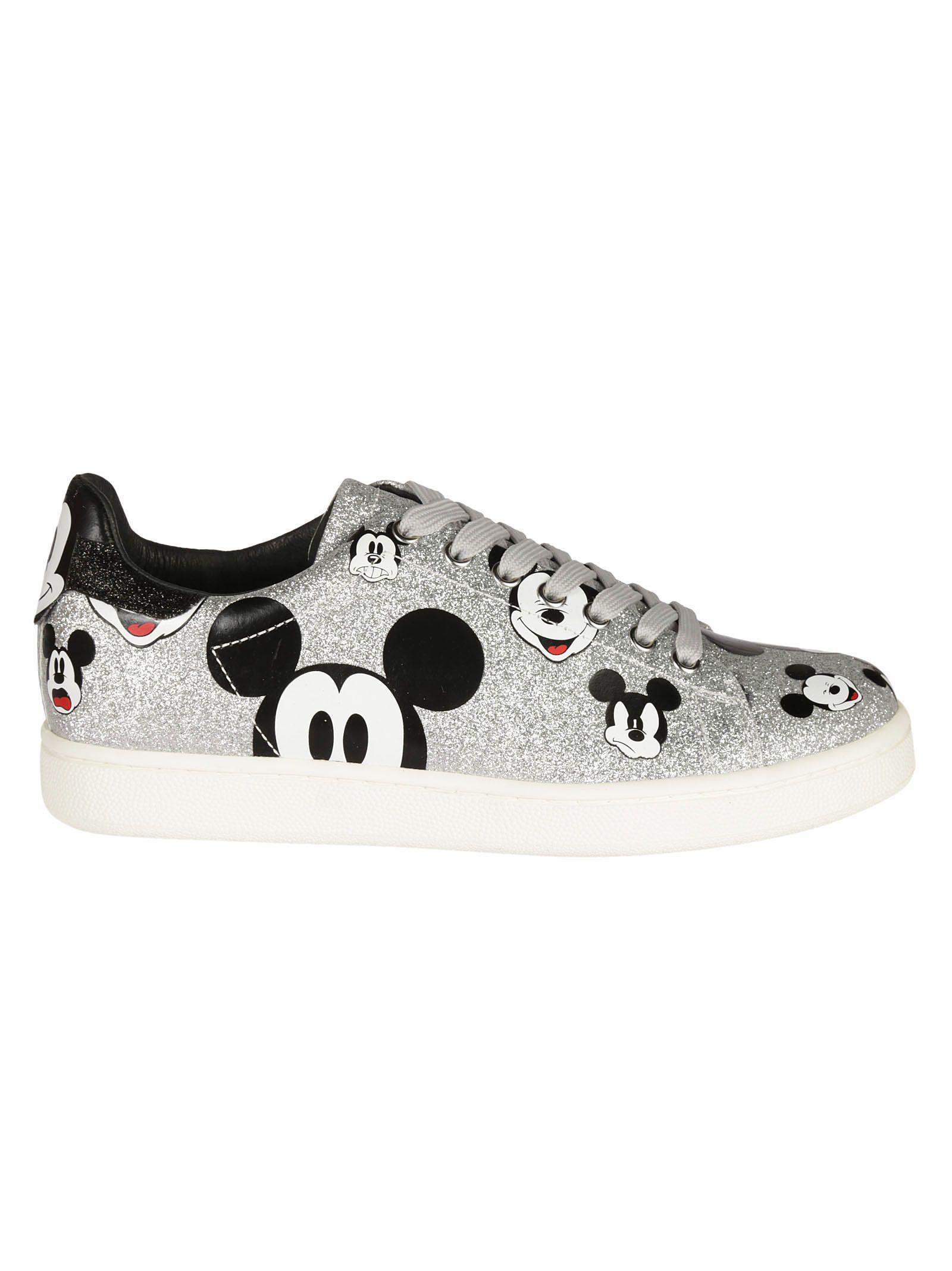 M.o.a. Mickey Mouse Sneakers In Silver