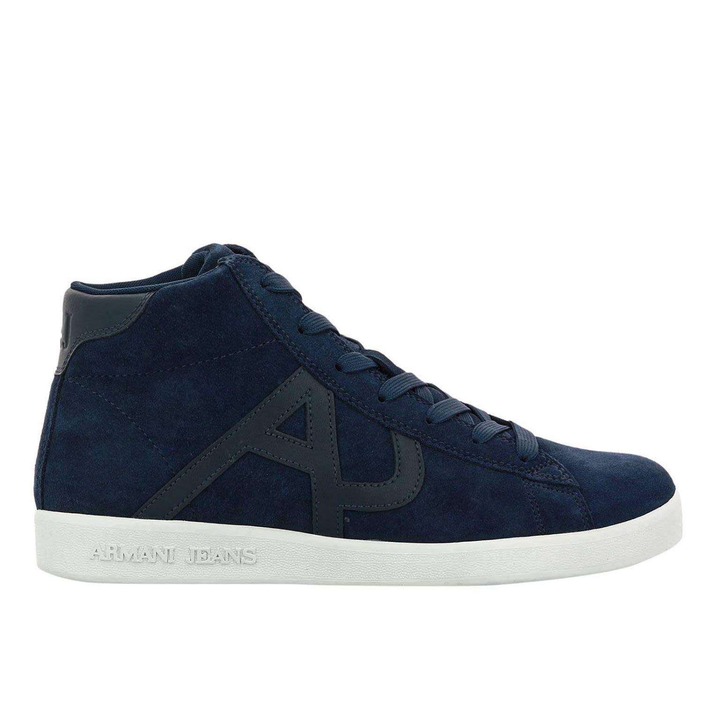 Armani Jeans Sneakers Shoes Men  In Blue