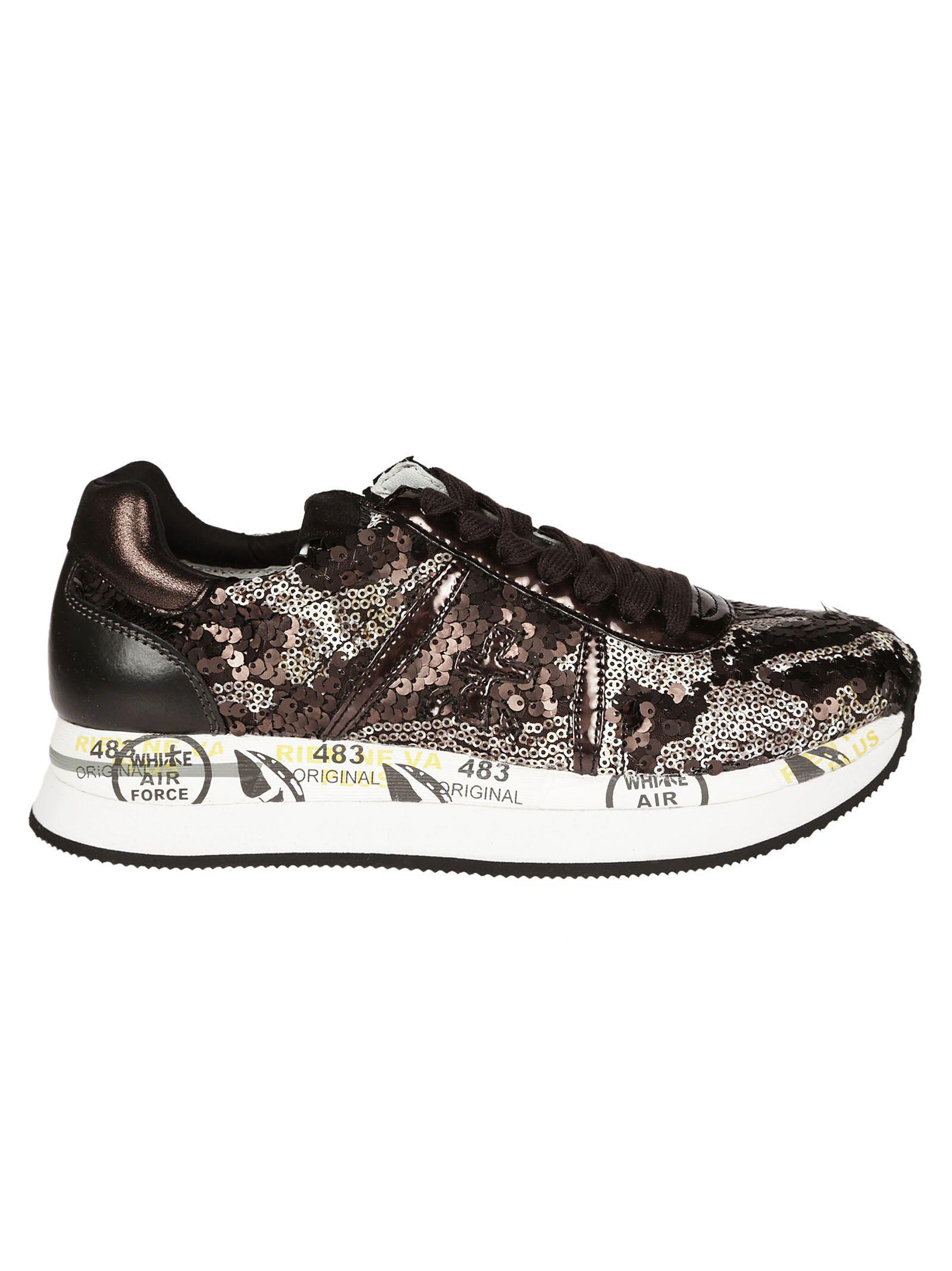 Premiata Conny Sequined Sneakers In Multicolor