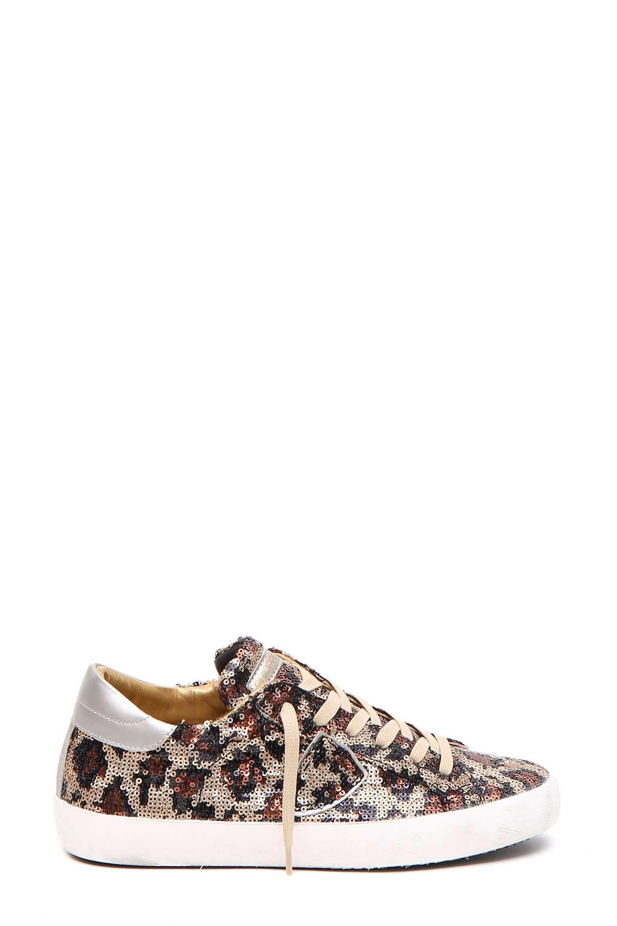 Philippe Model Sequinned Sneakers In Multicolor