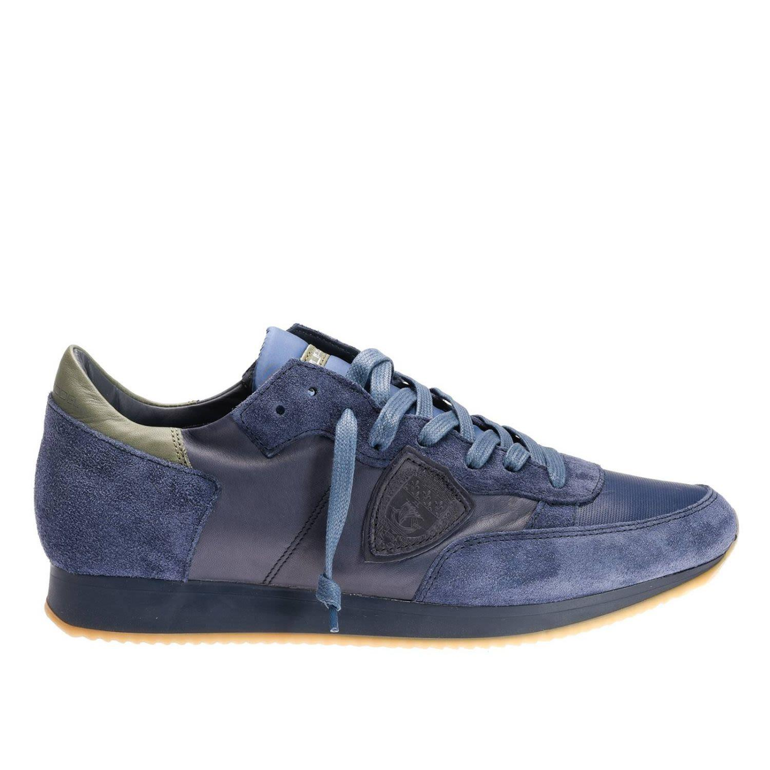 Philippe Model Sneakers Shoes Men  In Blue
