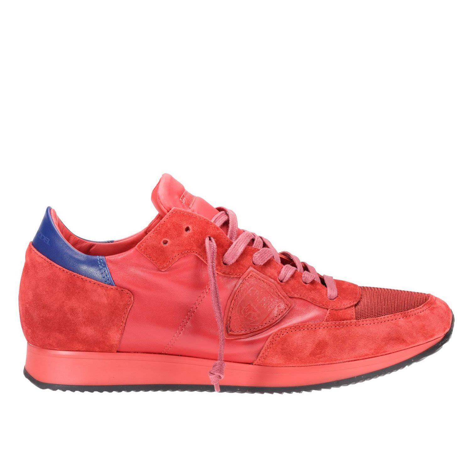 Philippe Model Sneakers Shoes Men  In Red