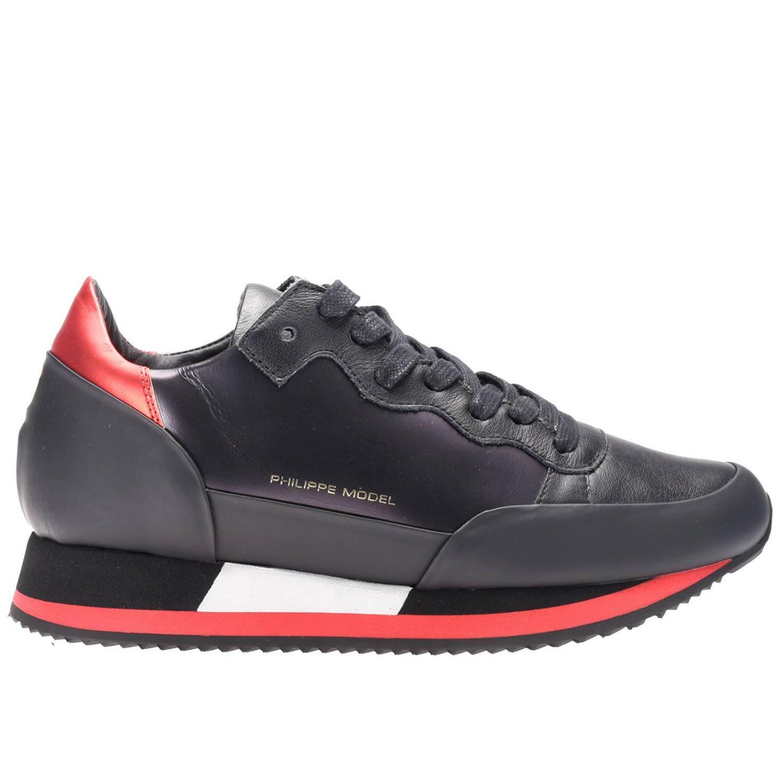 Philippe Model Sneakers Shoes Women  In Black