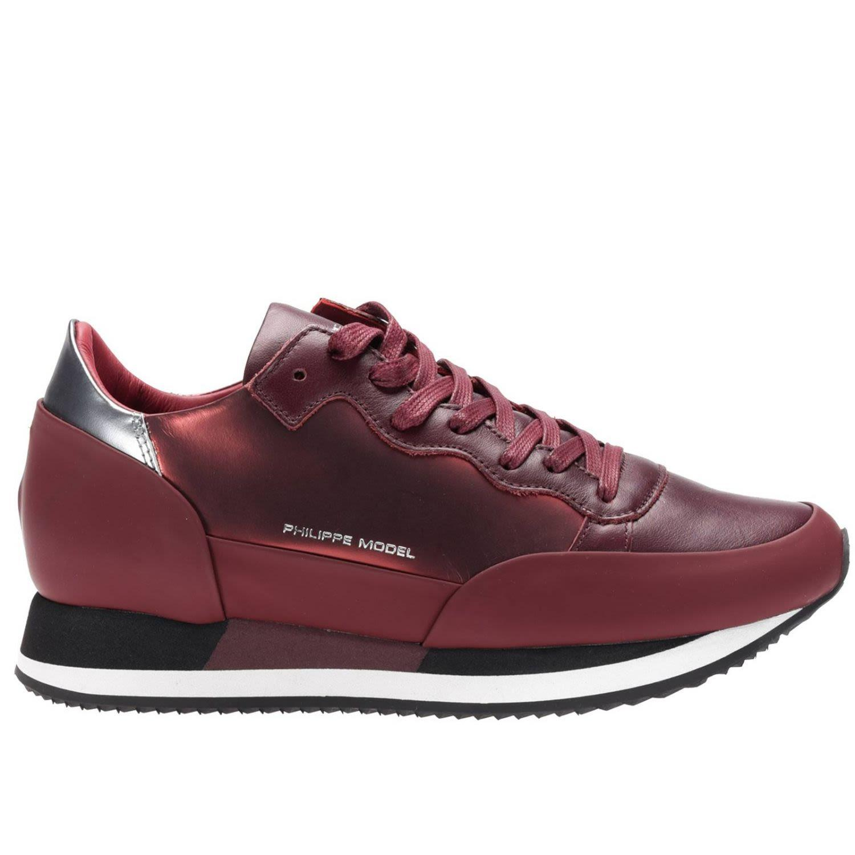 Philippe Model Sneakers Shoes Women  In Burgundy