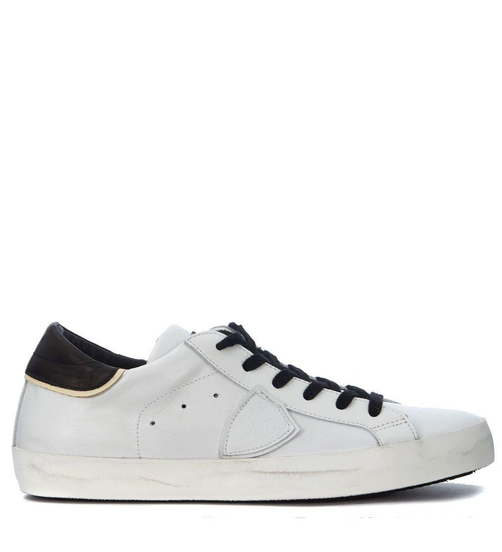 Philippe Model Paris White Leather Sneaker In Bianco