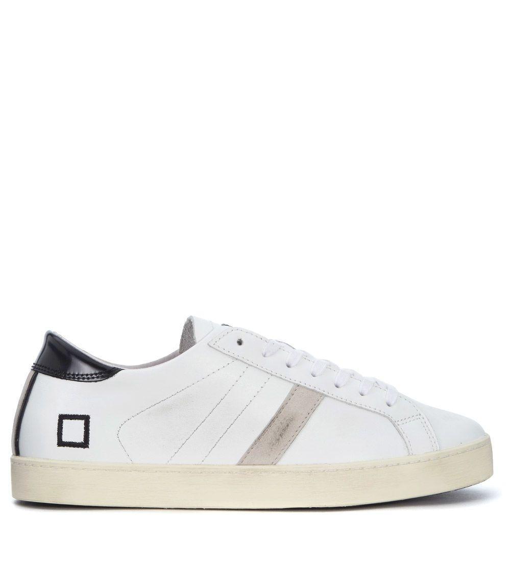 D.a.t.e. Hill Low White Nappa Sneaker In Bianco