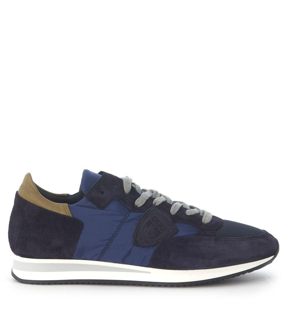 Philippe Model Sneaker  Tropez In Nylon And Blue Suede