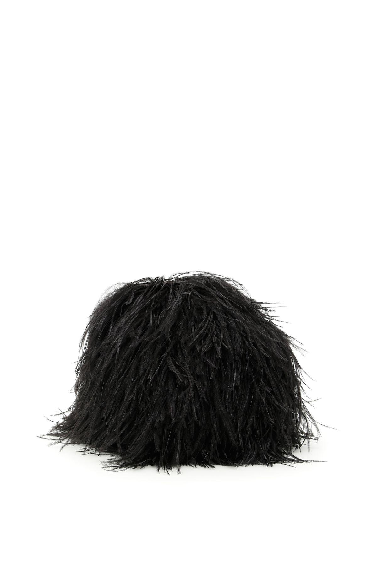 Gianluca Capannolo Feather Hat In Blacknero