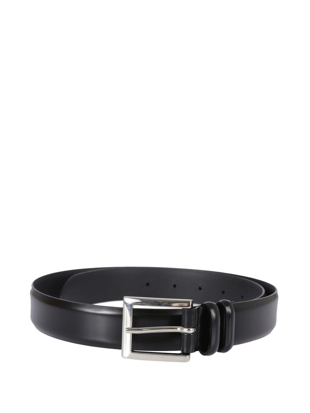 Orciani Wide Double Loop Belt In Black