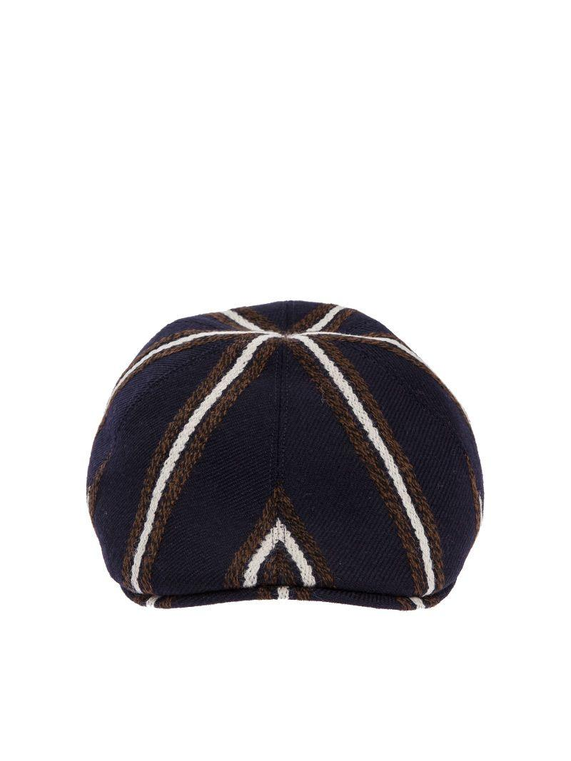 Tagliatore Donald Virgin Wool Flat Cap In Blue