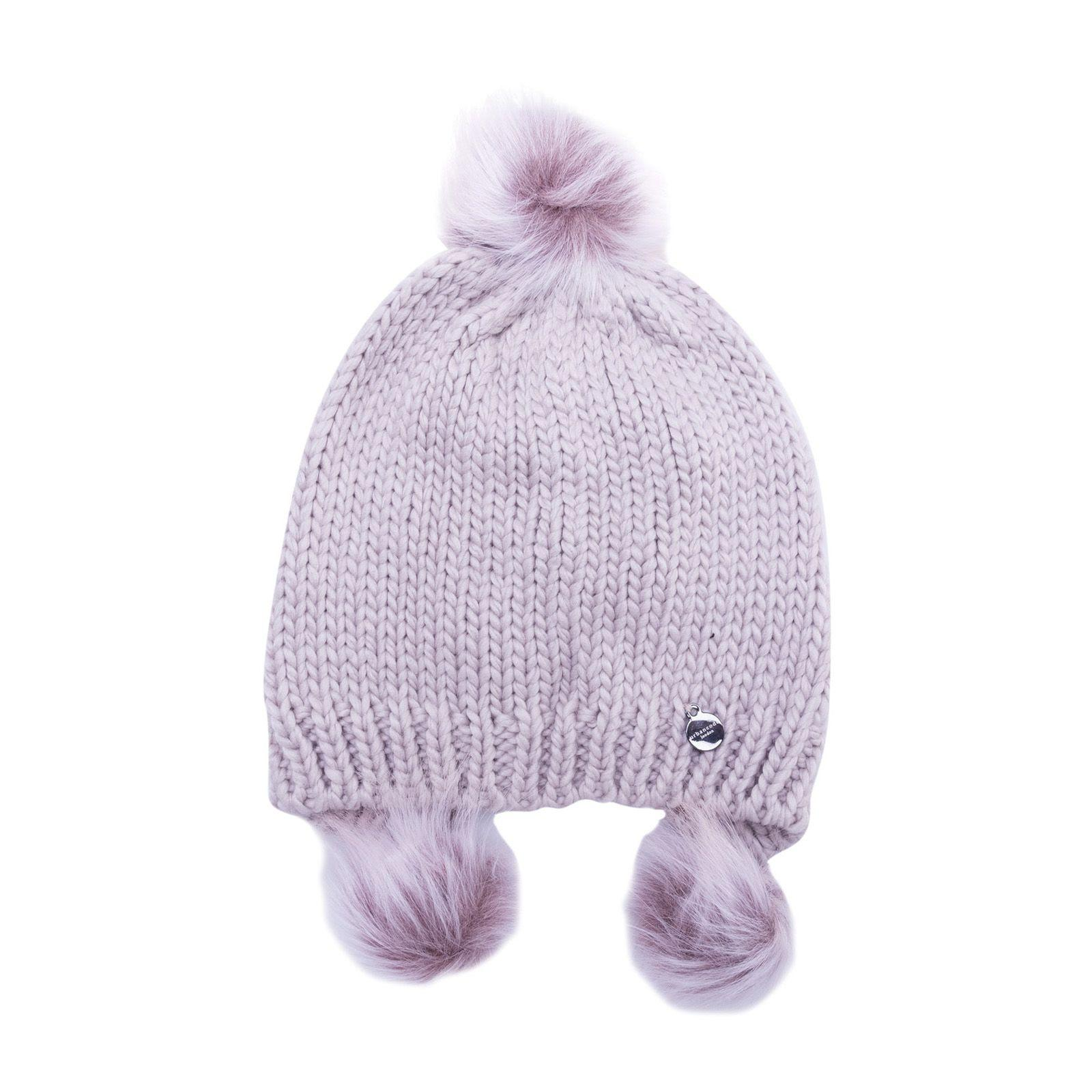Urbancode Pompom Hat In Unicorn Pink
