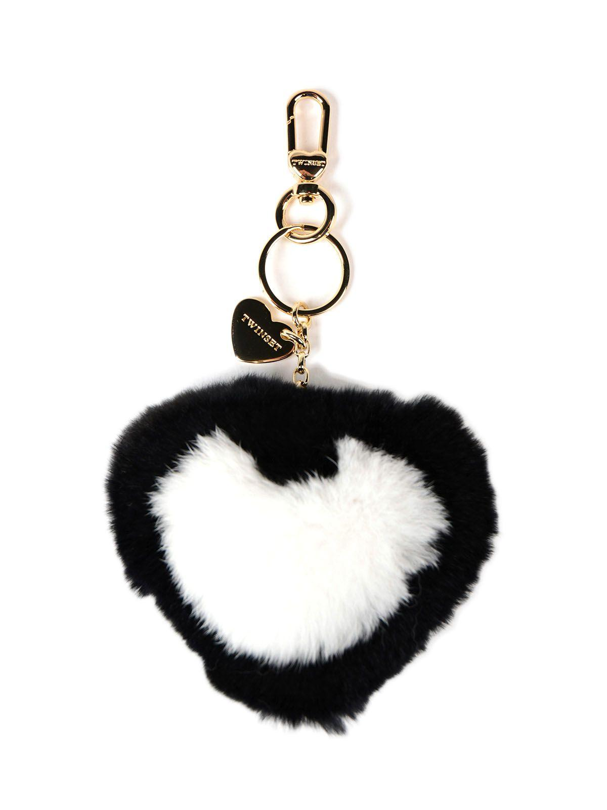Twinset Heart Charm Keyring In Multicolour