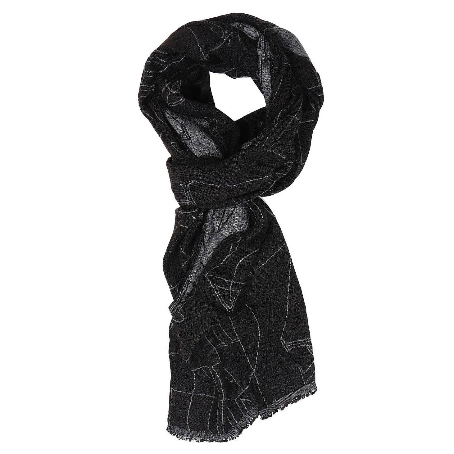 Armani Jeans Scarf Scarf Men  In Black