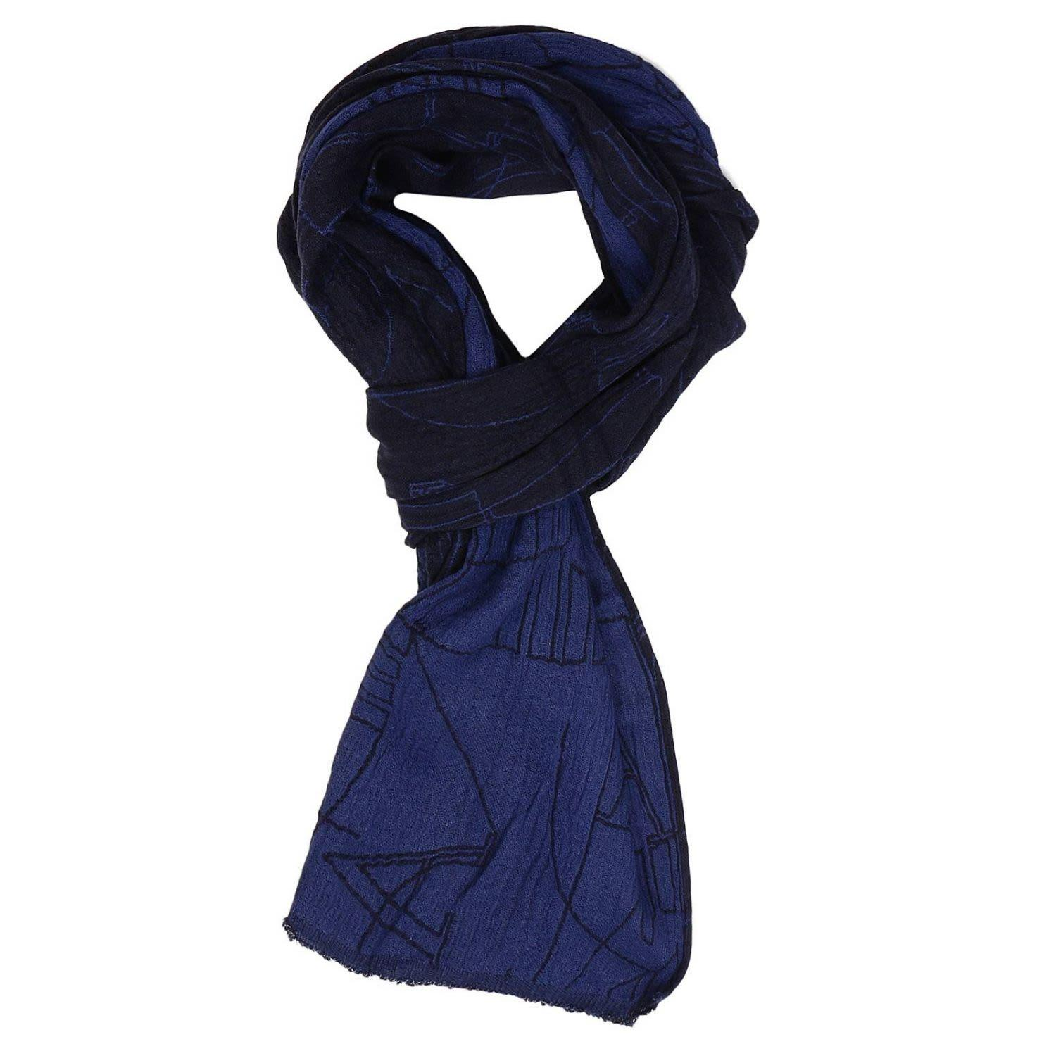 Armani Jeans Scarf Scarf Men  In Blue