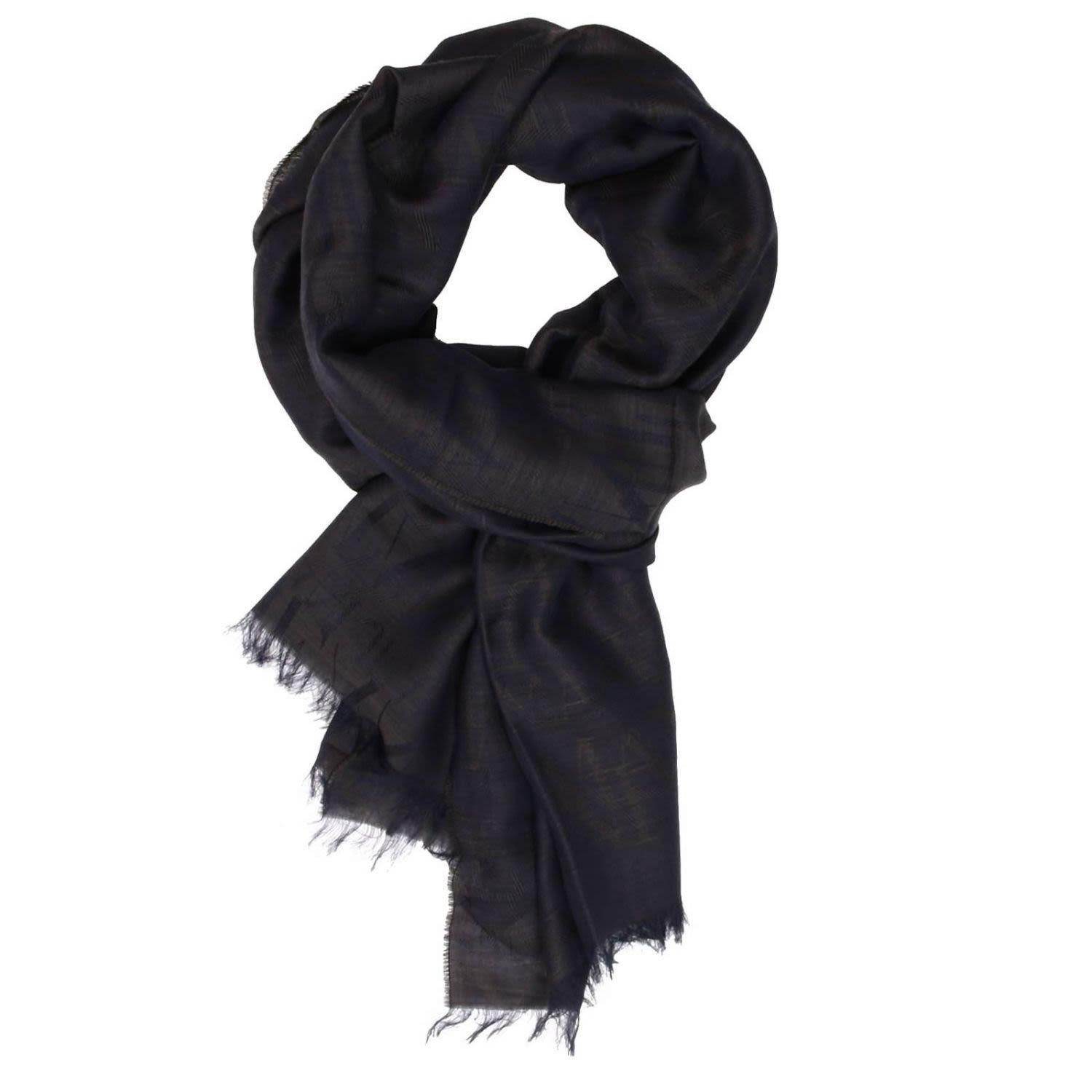 Armani Jeans Scarf Scarf Men  In Charcoal