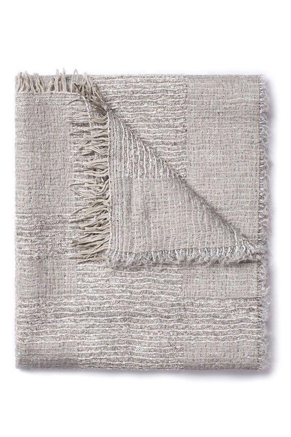 Fabiana Filippi Pashmina In Wool And In Modal In Grey