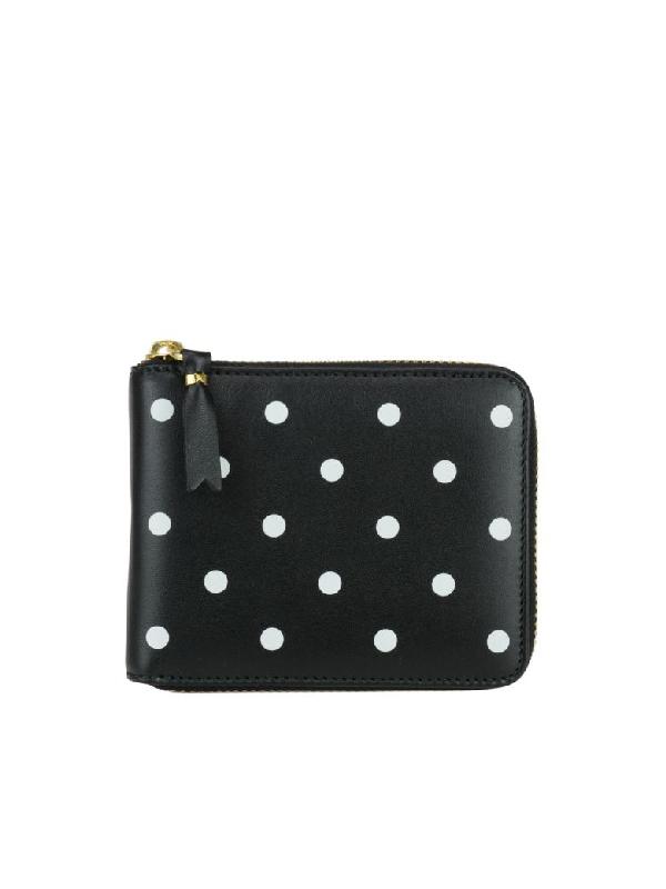 Comme Des GarÇons Wallet Dots Wallet In Black