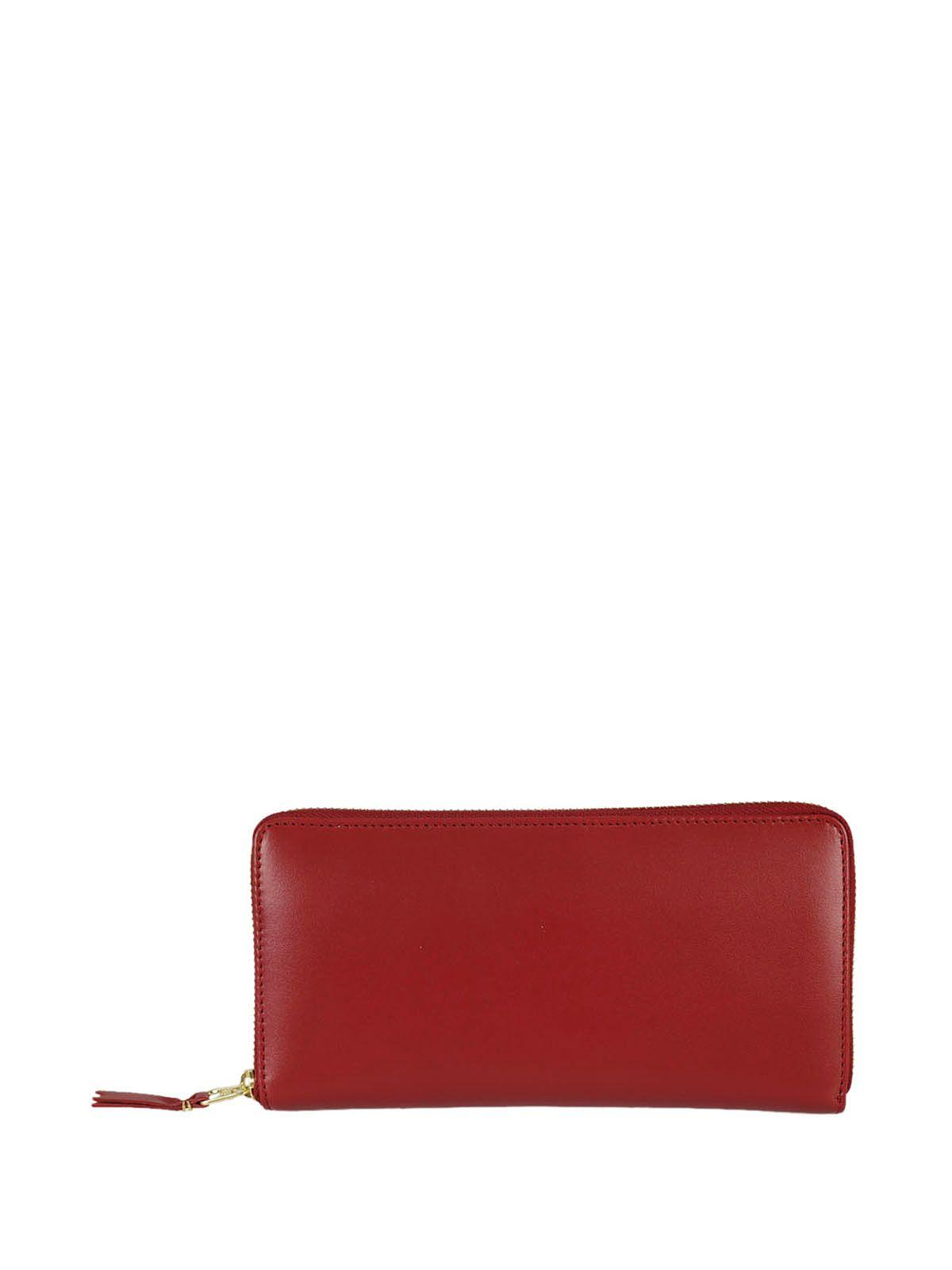 Comme Des GarÇons Wallets Arecalf Zip Around Wallet In Red