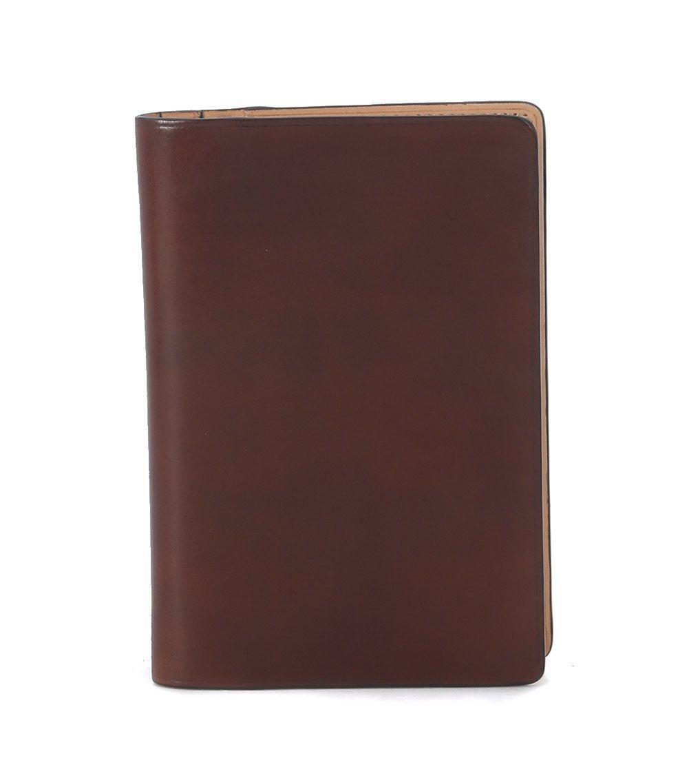 Il Bussetto Hazelnut Tuscan Leather Passport Holder In Marrone