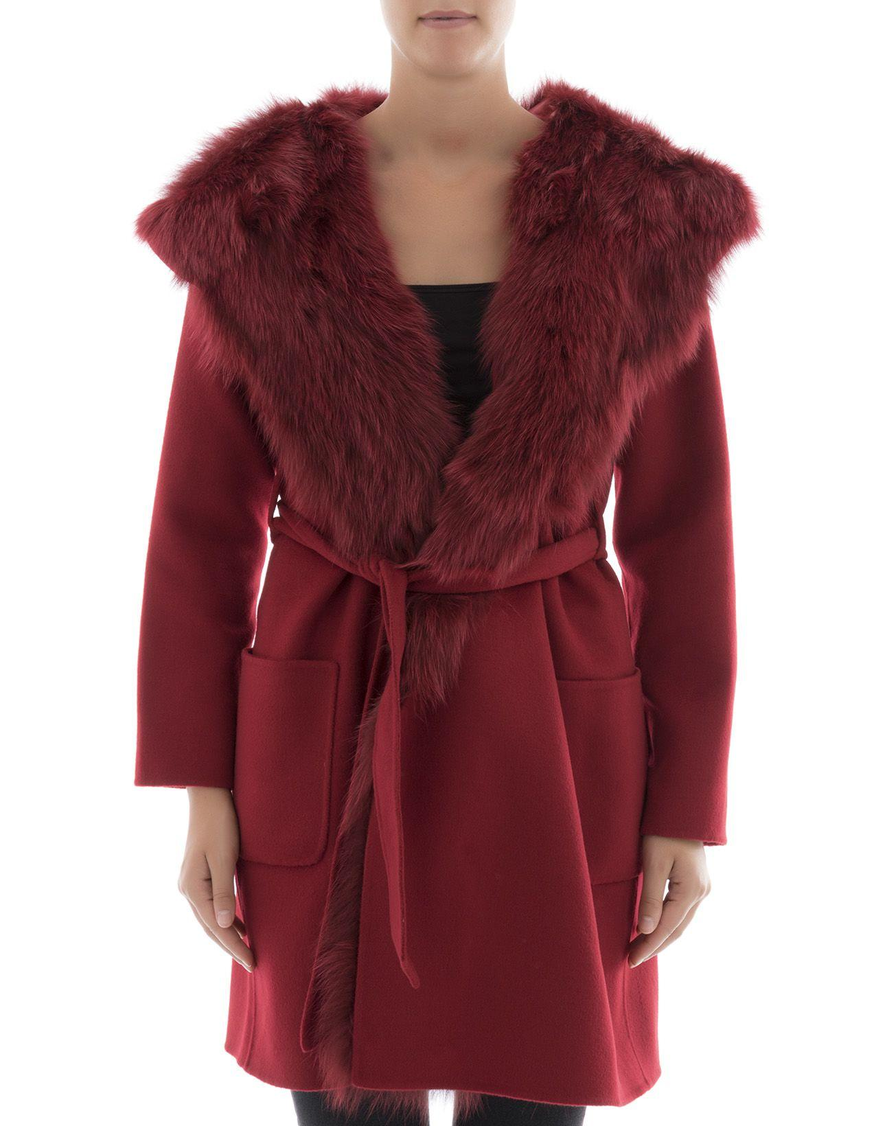 Parosh Red Wool Coat