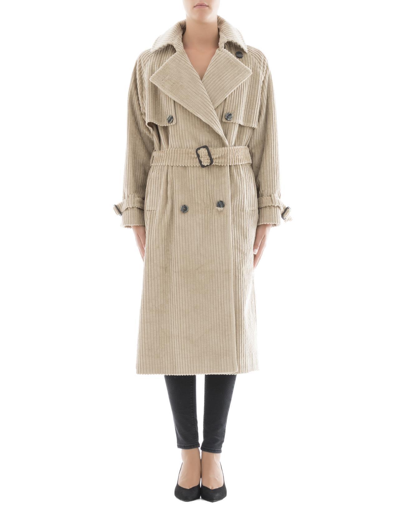 Tagliatore Beige Corduroy Raincoat