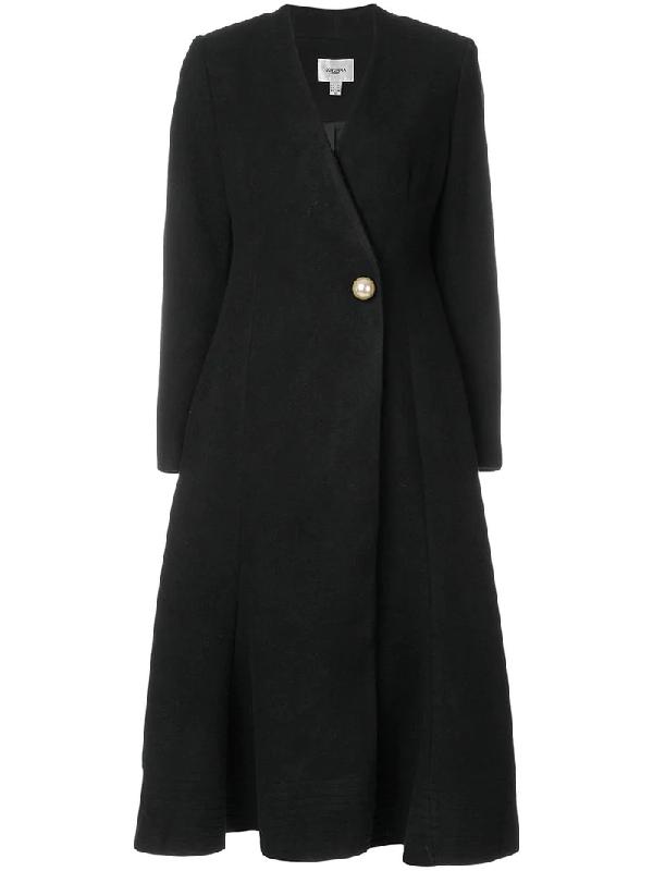 Jovonna Halfmoon Coat In Black