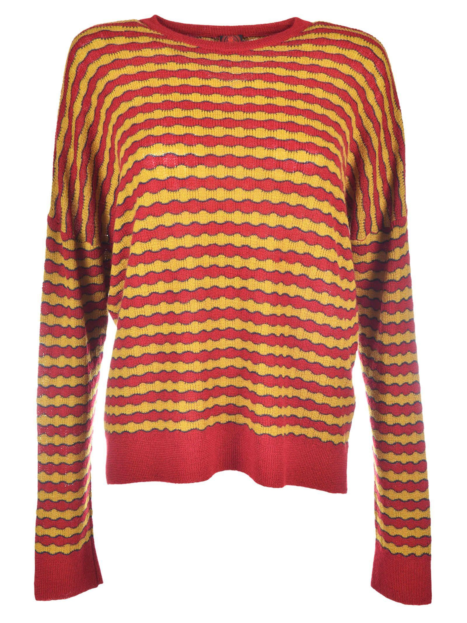 Cashmere Yellow Sweater Cashmere Red In l3KFJcT1
