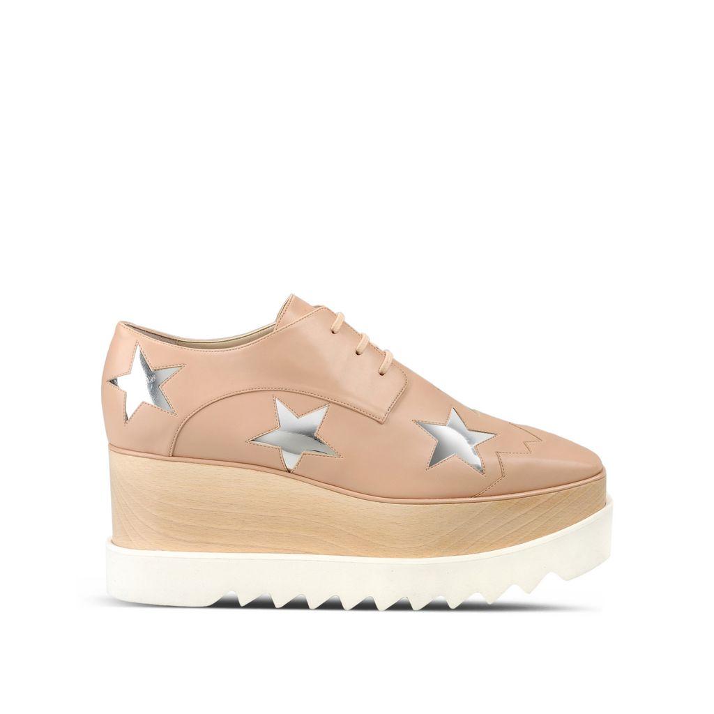 a95a564ddd55 Stella Mccartney Elyse Powder Rose Star Shoes In Powder Rose   Indium