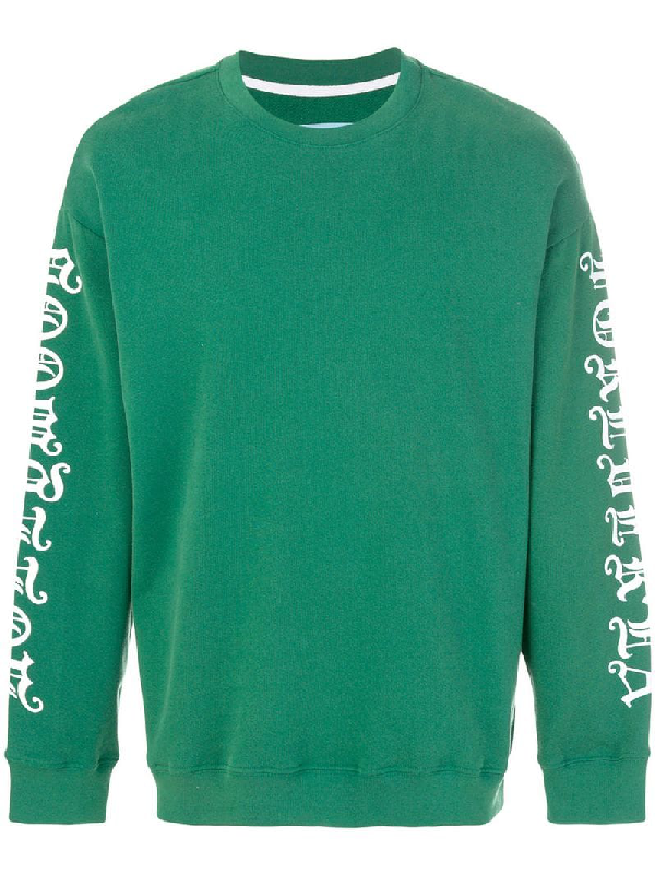 Adaptation Printed Sleeve Sweatshirt In Green