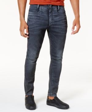 c013839a G-Star Raw D-Staq 3D Super Slim Jeans In Dark Aged Cobbler Blue In ...