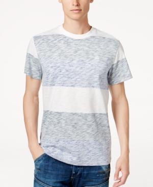G-star Raw Men's Brallio Marled Stripe T-shirt In Mazarine Blue Stripe/milk