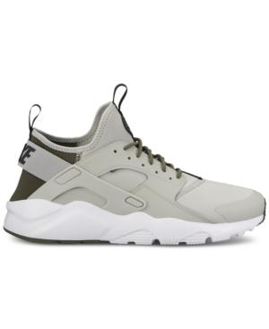 f9df956ddb43 Nike Men S Air Huarache Run Ultra Running Sneakers From Finish Line In Pale  Grey Black