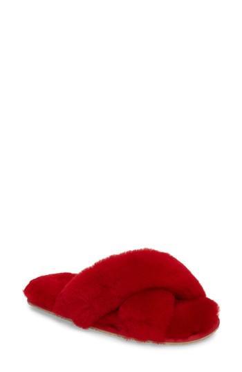 16a9af9a8db Patricia Green Mt. Hood Genuine Shearling Slipper In Red